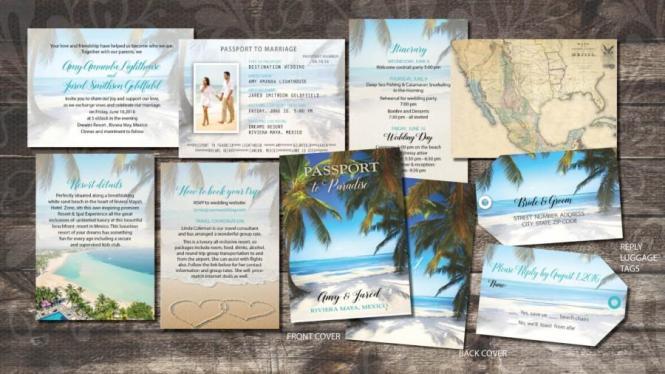 Passport Wedding Invitations Booklets For Destination