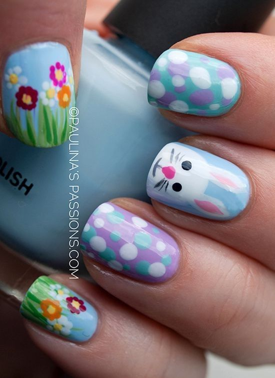 Top 30 Cool Nail Art Design Ideas For 2015 Easter Day