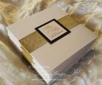LUXURY Wedding Invitation Set, Gold Glitter Wedding ...