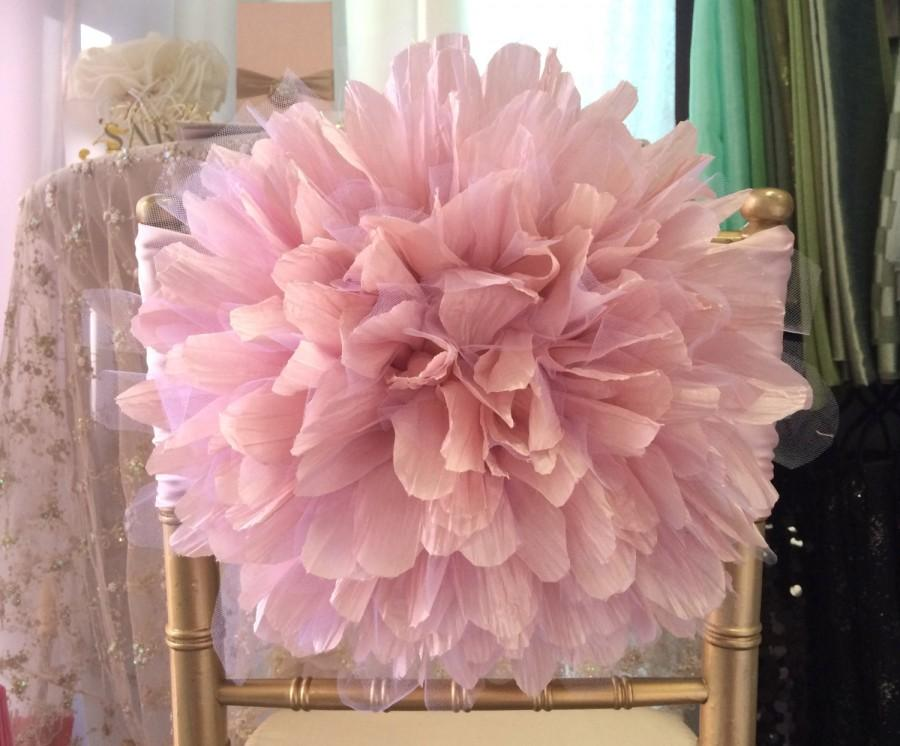 wedding chair covers for bride and groom stylish office peony flower cover the quinceanera chiavari rustic