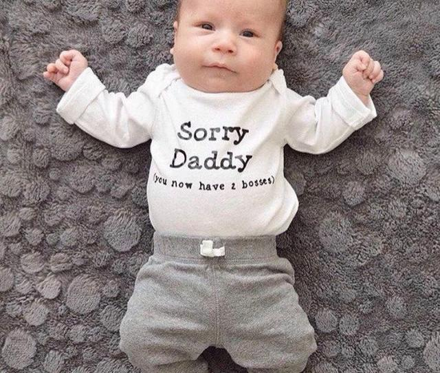 Sorry Daddy Pregnancy Announcement Fathers Day New Baby Gift Daughter Baby Shower Gift Two Bosses Son Parenting New Dad New Mom