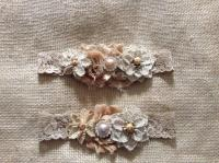 Vintage Rustic Couture Garter Set- Bridal Garter Set ...