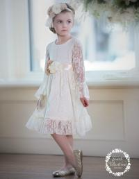 Flower Girl Dress, Girl Lace Dress, First Communion Dress ...