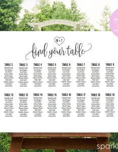 Wedding seating chart template diy plan sign also rh weddbook
