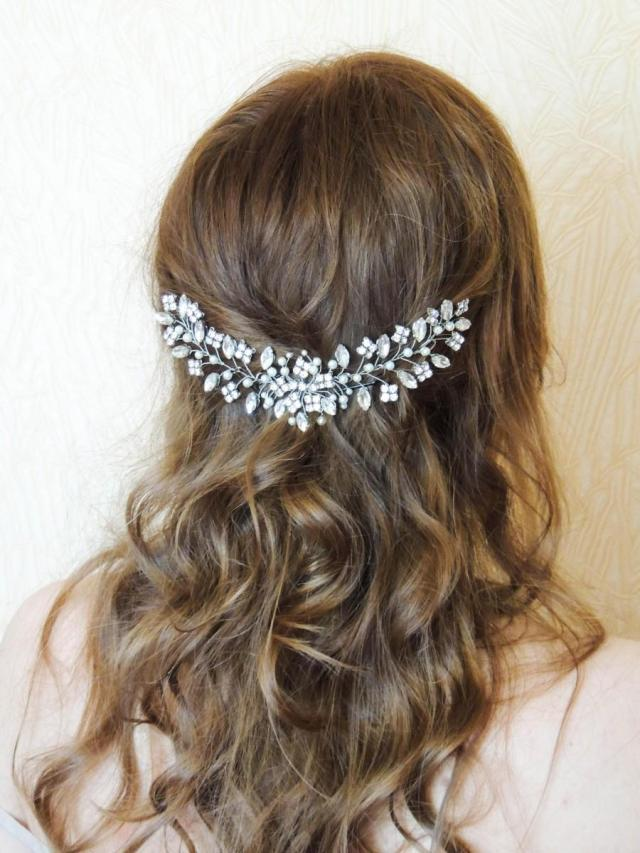 bridal hairpiece swarovski bridal headpiece rhinestone hair