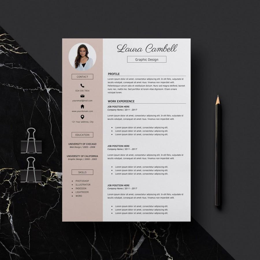 Modern Resume Template Download Modern Resume Template Cv Template For Word Cover Letter