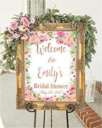 Bridal Shower Sign Bridal Shower Decorations Wedding Sign ...