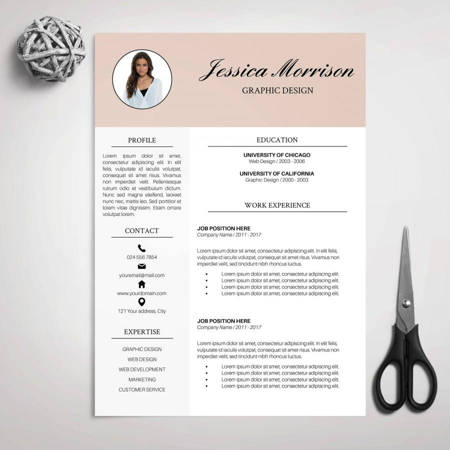 Modern Resume Template Download Resume Template Cv Template For Ms Word Cover Letter
