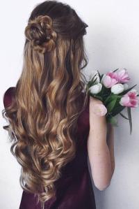 Hair - Highlights Half Up Half Down Curly Hair #2720121 ...
