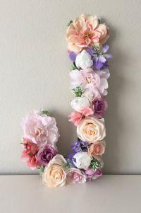 LARGE Floral Letter, Boho Flower Letter, Boho Wall Art ...
