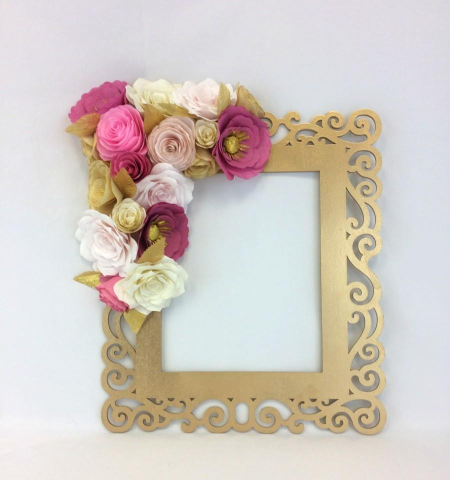 floral frame photo prop d flower wall art paper flower wall
