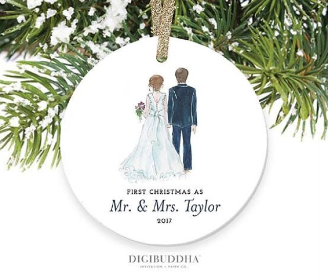 Bride Groom Ornament First Christmas As Mr And Mrs Ornament Newlyweds Christmas Ornament First Married Christmas Ornament Newlywed Wedding