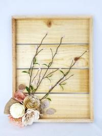 Rustic Floral Decor - Cottage Chic Wall Decor - 3D Flower ...