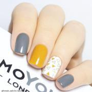 nail - grey yellow art #2746690