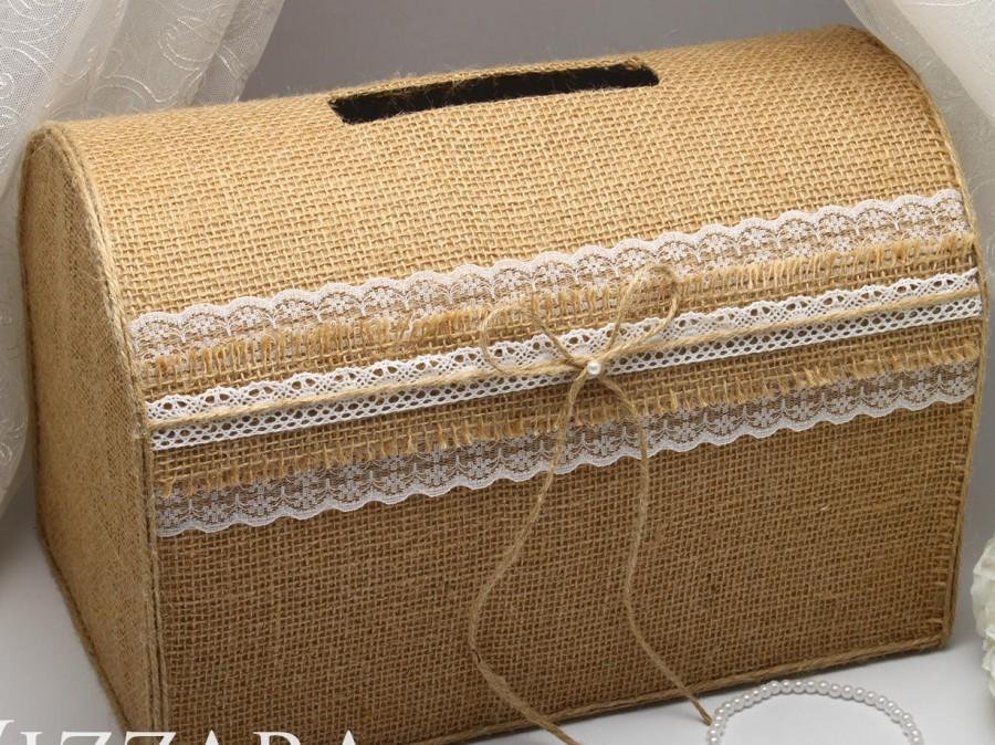 wooden card box for