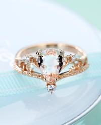 Rose Gold Engagement Ring Vintage Morganite Engagement ...