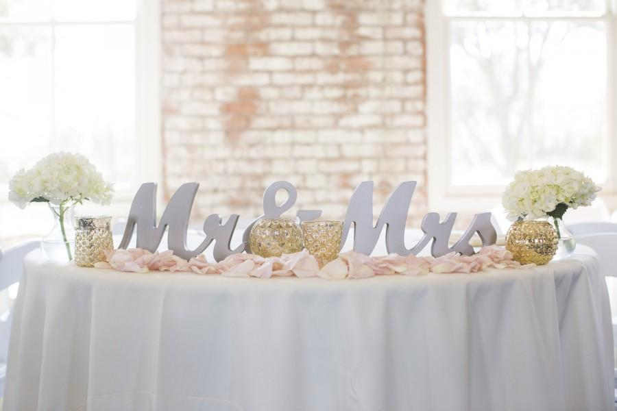 Mr And Mrs Wedding Sign For Wedding Sweetheart Table, Mr