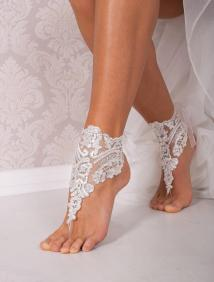 Barefoot Beach Wedding Bridal Shoes