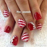 Red / Green / Gold Christmas Nail Art Designs #2803936 ...
