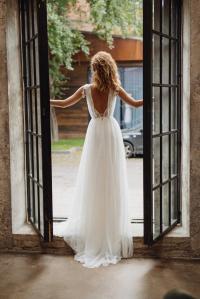 Wedding Dress 'GWENDOLINE' / Elegant Wedding Dress, Boho ...