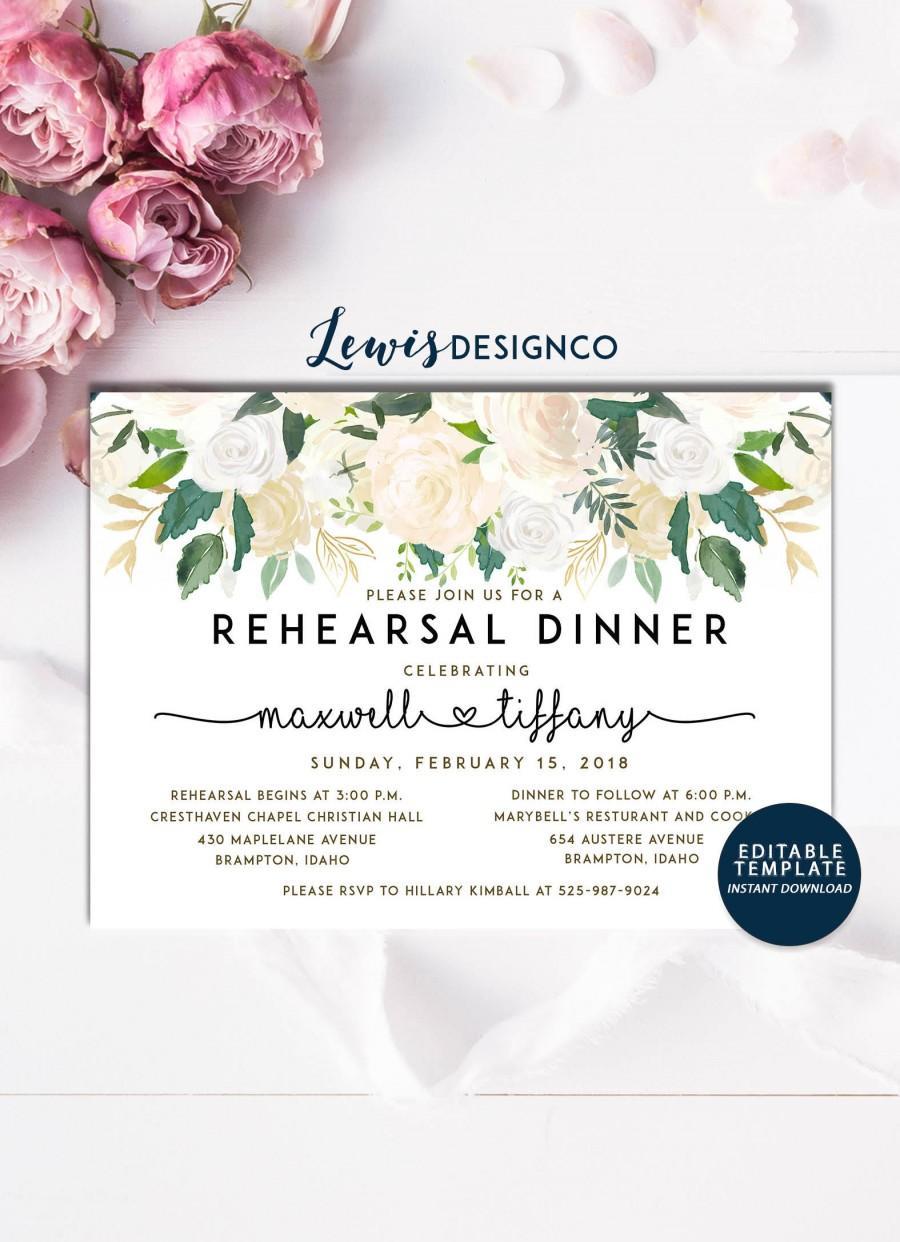 watercolor floral rehearsal dinner invitation party invite wedding card wedding dinner instant download editable printable pdf jpeg 2826890 weddbook
