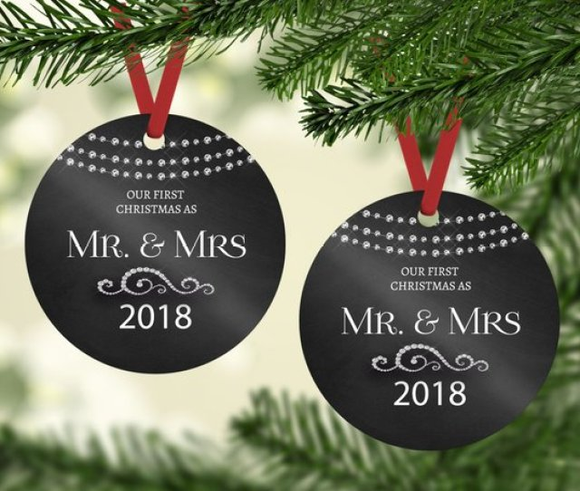 First Christmas Ornament Married Our First Christmas As Mr Mrs Ornament Newlywed Gift Couples Wedding Gift Marriage Gift For Couple