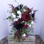 Bridal Bouquets Wedding Bouquet Wedding Flowers Artificial Wedding Bouquet Cascade Bouquet Silk Flower Bouquet Navy Burgundy White 2948378 Weddbook