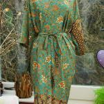 Green Silk Kimono Robe Mothers Day Dressing Gown Vintage Kimono Bridesmaid Robes Boho Kimono Bridal Robe Gifts For Her Mango Moon 2966951 Weddbook