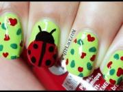 wedding nail design - ladybug
