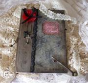 gothic wedding guest book - shabby
