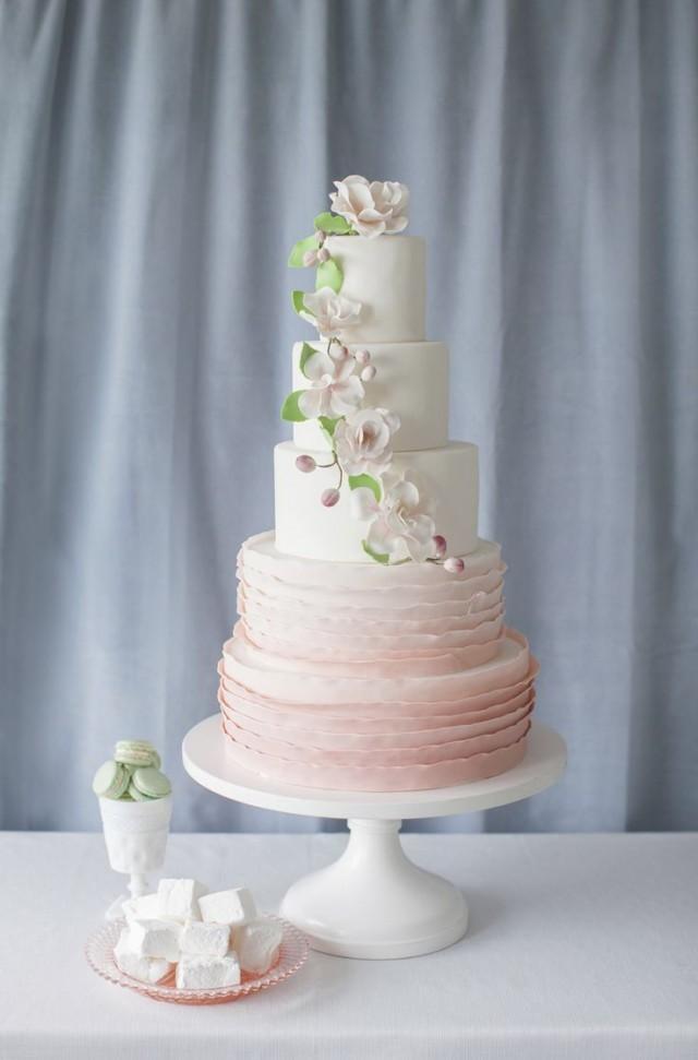 Blush Wedding Rosy Mauve Wedding Cake 2062594 Weddbook