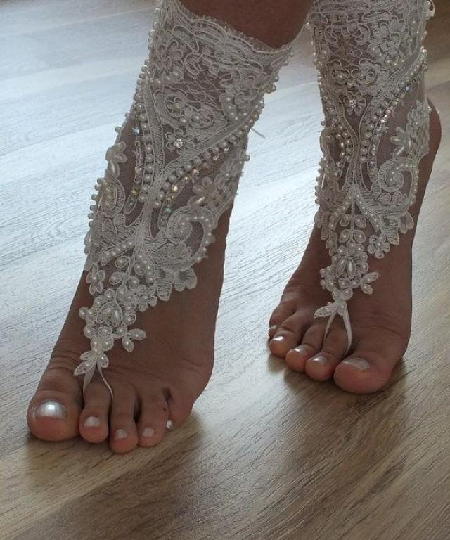 Beach ShoesUnique Design Bridal Sandals Lariat Sandals Wedding Bridal Bellydance Gothic