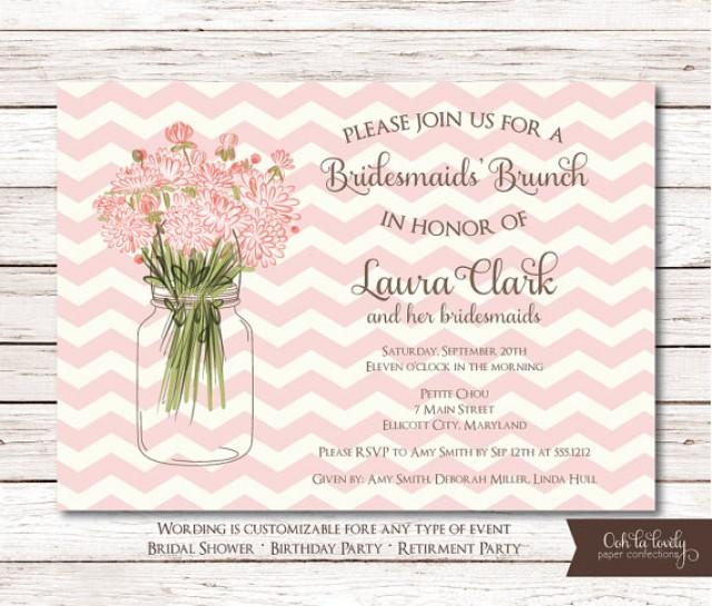 bridal shower invitation birthday invite retirement party bridal luncheon invitation diy printable chevron 2218899 weddbook