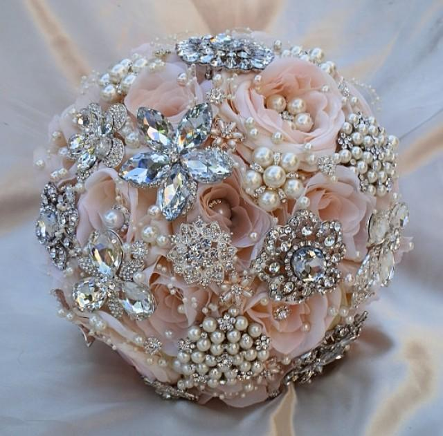 PINK BROOCH BOUQUET Deposit For This Bridal Brooch