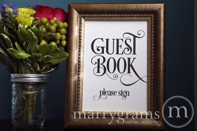 Guest Book Table Card Sign Please Sign Wedding
