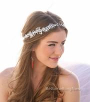 pearl and rhinestone wedding hair