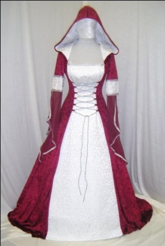 Medieval Wedding Dress Renaissance Dress Handfasting Dress