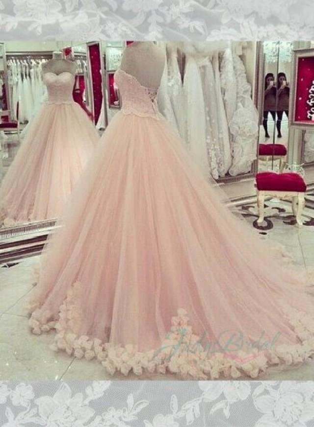 JOL258 Fairy Blush Pink Sweetheart Layers Tulle Skirt Ball