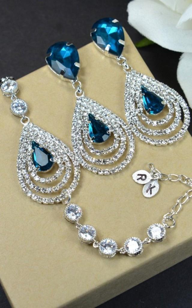 Navy Bluesapphire Blue Wedding Jewelry Bridesmaid Gift