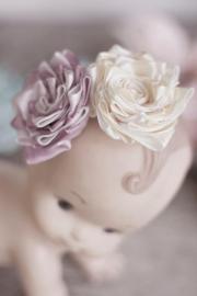 fabric flower pattern ribbon