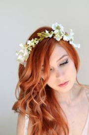 wedding headband dogwood crown