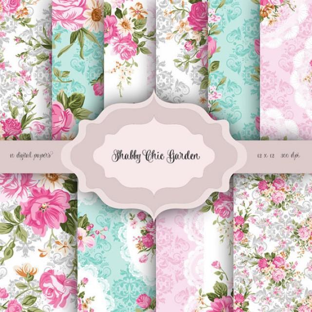 Hd Wallpaper Zip Pack Free Download Vintage Shabby Chic Flowers Digital Paper Pack Vintage
