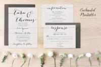 DIY Printable Wedding Invitation Set, Wedding Invitation ...