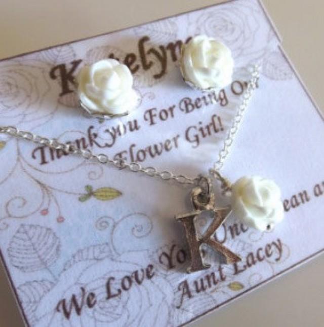 Personalised Flower Girl Gift,flower Girl Jewelry, Flower