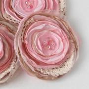 pink blush fabric flowers wedding