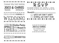 Wedding Invitation Rubber Stamp Set For DIY Wedding