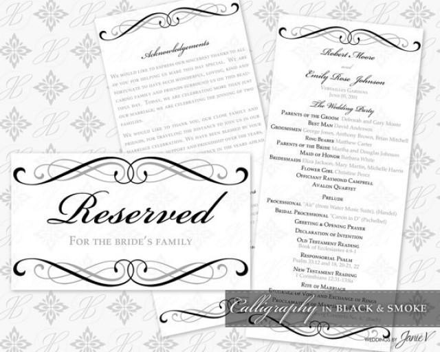 DIY Printable Wedding Ceremony Template Set #2339813