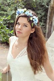 flower crown blue floral headband