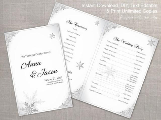 DIY Printable Wedding Program Template 2355351 Weddbook