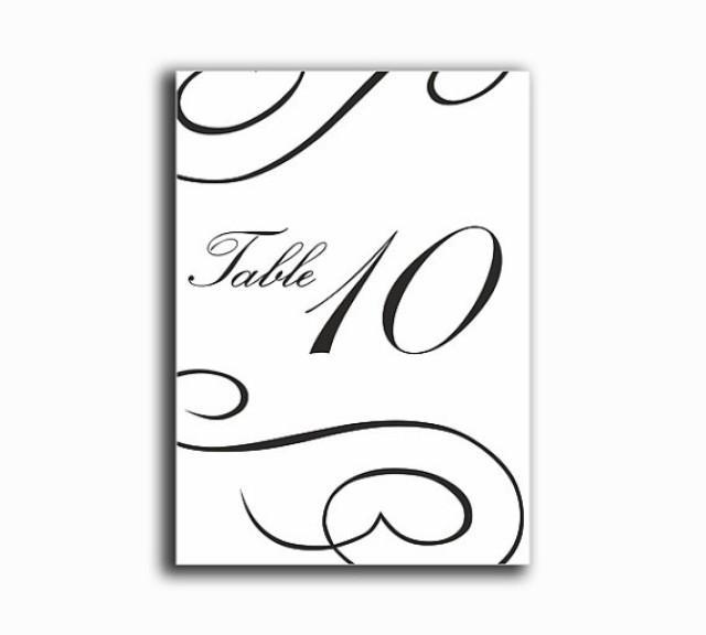 Printable Table Numbers DIY Instant Download Elegant